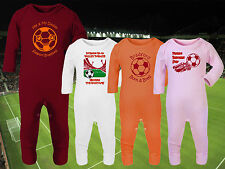 BRADFORD CITY Football Baby Romper Suit Sleep Personalised Gift-Any team/colour