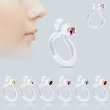 Fake Bio Flex Non Piercing Nose Ring With CZ Gem