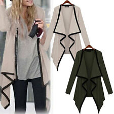 Women Cape Poncho Tops Cardigan Long Sleeve Coat Blouse Sweater Outwear