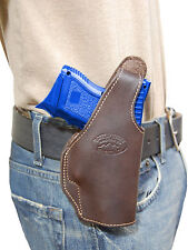 New Barsony Brown Leather OWB Belt Holster Taurus Compact, Sub-Compact 9mm 40 45
