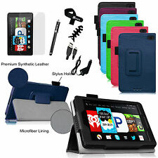 "6in1 Bundle For 2014 Amazon Fire HD 6"" Leather Stand Case Slim Wake/Sleep Cover"