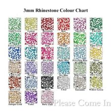 3mm Flat Back Rhinestones for Scrapbooking Embellishment