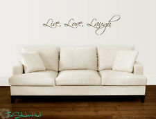 Live Love Laugh Vinyl Word Wall Art Graphics Style Decals Stickers 1444