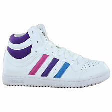 Adidas Top Ten Hi J White Multi Kids Trainers