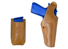New Barsony Tan Leather OWB Holster + Mag Pouch Astra Beretta Full Size 9mm 40