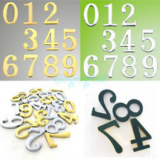 """2"""" Tall Raised Gold Numbers Adhesive Backed 3D Plastic House Mailbox Sticky Sign"""