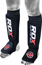 Authentic RDX Shin Instep Pads MMA Leg Foot Guards Muay Thai Kick Boxing Guard U