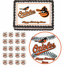 Baltimore Orioles Edible Cake Topper Cupcake Image Decoration Birthday