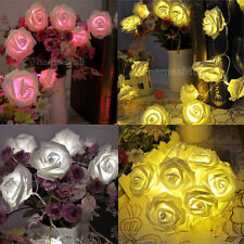 20-LED Battery Operated Rose Flower Shape String Lamp Xmas Party Fairy Light DIY