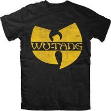 Wu-Tang Clan Classic W Logo Licensed NWT Adult T-Shirt - Black / Yellow