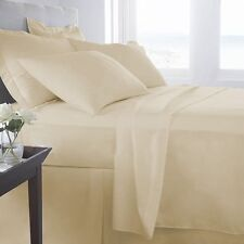 100% EGYPTIAN COTTON ALL BEDDING ITEMS BEIGE SOLID CHOOSE SIZE&SET