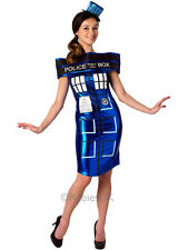 Adult Doctor Who Tardis Fancy Dress & Hat Outfit Police Call Box Ladies BBC TV