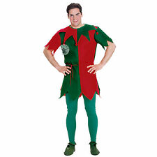 Mens Elf Tunic Rubies New Adults Christmas Fancy Dress Party Outfit Xmas Costume