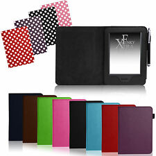 FOR AMAZON KINDLE TOUCH - PU LEATHER FLIP BOOK STYLE CASE COVER WALLET