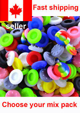 CONTROLLER THUMB STICK GRIPS SONY PLAYSTATION PS4 PS3 SILICONE CAPS - MIX PACK