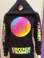 5 SECONDS OF SUMMER SOS PULOVER HOODIE,black hoody,new (NEW) S,M,L,XL,2XL,3XL