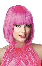 RED WHITE OR PINK SHIMMERING BOB CUT FLAPPER WIG COSTUME MR177048-50
