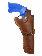 """NEW Barsony Brown Leather Western Style Gun Holster for Llama 6"""" Revolvers"""