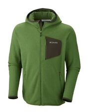 NWT Columbia Mens Fleece Scale Up Full Zip Hooded Jacket Size S, M, L,XL Green
