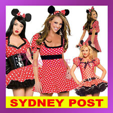 Minnie Mickey Mouse Disney Halloween Fancy Dress Up Hens Night Party Costume