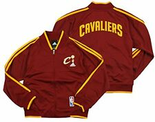 Adidas NBA Youth Girls Cleveland Cavaliers On The Court Track Jacket, Maroon