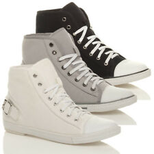 WOMENS LADIES GIRLS LACE UP HI HIGH TOP PUMPS TRAINERS SHOES ANKLE BOOTS SIZE