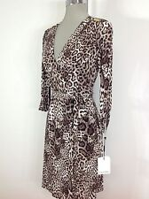 Calvin Klein NWT Wrap Animal Print design roll up long sleeves