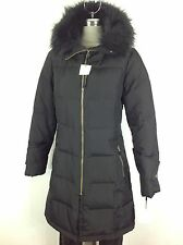 Calvin Klein NWT Gorgeous Black Down Jacket with Hood and Removable Faux fur ,1X
