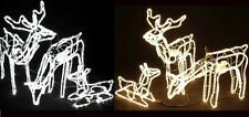 21M Set of 3 Animated LED ROPE LIGHTS 3D DEER FAMILY  Christmas Motif