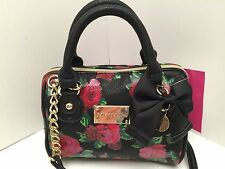 Betsey Johnson *Mini* Crossbody Handbag *Take The High Rose* Shoulder Purse *New