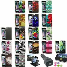 """Colorful Rubberized Design Case+Holder+Charger+Sticker For iPhone 6 Plus 5.5"""""""
