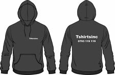Your Business Name Or Logo Printed On Custom Hooded Sweat Top Hoodie