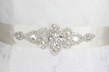 Wedding Dress sash belt Crystal Belt sash with Beaded Rhinestones Bridal sash