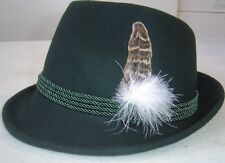 Traditional German Bavarian Oktoberfest Trachten Green Alpine Hat