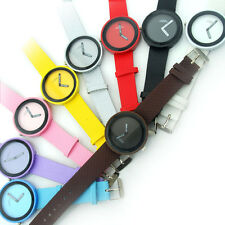 New Womens Watch Quartz Unisex Sports 9 Colors Wrist Watches Without Second Hand