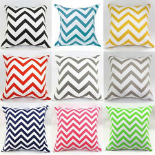 New Arrival Waved Stripes Cotton Linen Throw Pillow Cases Cushion Cover #H30