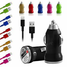 USB Car Charger + 8 Pin Data Cable Cord for iPhone 6 6 Plus iPhone 5 5S 5C Touch