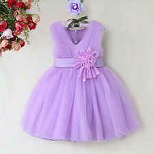 Lilac purple bridesmaid prom party flower girl bridesmaid dress age 2 3 4 5 6 7