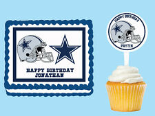 Dallas Cowboys Edible Birthday Cake Cupcake Toppers Party Decorations Images