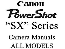 Canon PowerShot SX  Instruction Manual (ALL SX and HS MODELS)