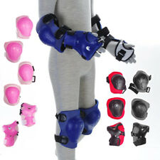 CHILDREN KIDS WRIST ELBOW KNEE PAD PROTECTORS SKATING SPORTS COLOR RED BLUE PINK