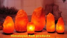 Himalayan  Crystal rock salt lamps in Different Sizes. BEST GIFT FOR CHRISTMAS