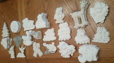 Plaster to Paint Ready Christmas Snowman Reindeer Angel Sleigh Bear Ornaments