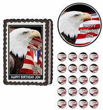 Eagle Scout Edible Birthday Cake Cupcake Toppers Party Decorations Images