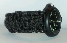 KING COBRA PARACORD SURVIVAL WATCH BAND - SOLID COLOR - YOU CHOOSE COLOR/SIZE