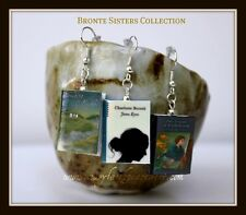 Jane Eyre Bronte Book Earrings Wuthering Heights Tenant of Wildfell Hall Pair