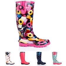 WOMENS LADIES FLAT FESTIVAL WELLIES WELLINGTON RAIN BOOTS SIZE 3-8