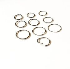 NOSE HOOP RING STUD NASAL PIERCING 6mm 8mm 10mm diameter 0.6mm 0.8mm 1mm gauge