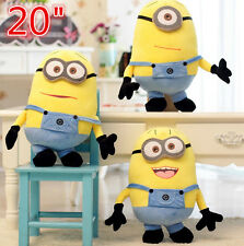 "20"" Despicable Me Plush Minion Minions Soft Toy Stuffed Cuddly Teddy Doll Toy"