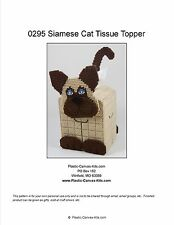 Siamese Cat Tissue Topper-Plastic Canvas Pattern or Kit